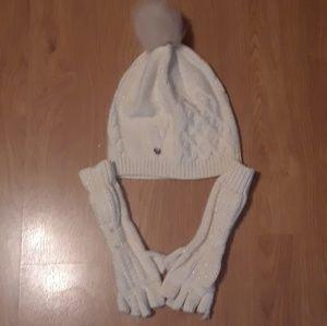 UGG Hat & Fingerless Gloves Set OSFM  EUC